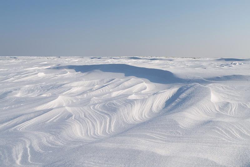 śnieżna pustynia